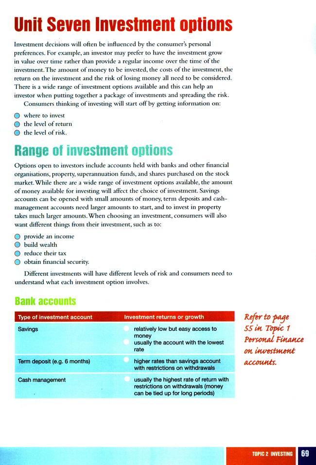 Unit Seven Investment options_人教版初级财经英语