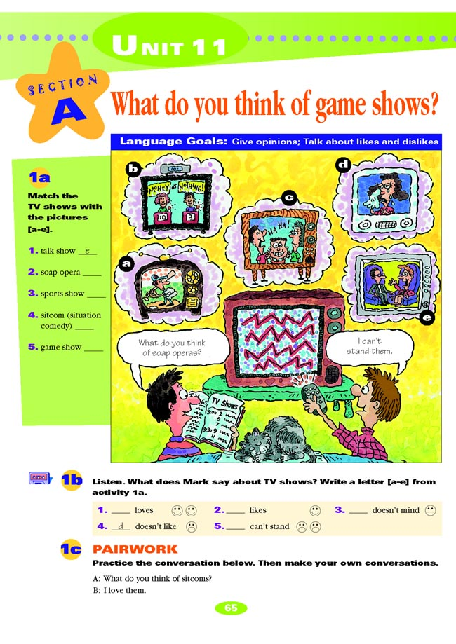 Unit 11 What do you think of game shows?_人教版七年级英语下册